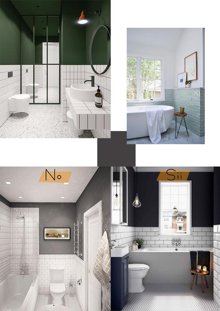 Pittura Per Piastrelle Colori piccolo ma bello: come organizzare e arredare un bagno