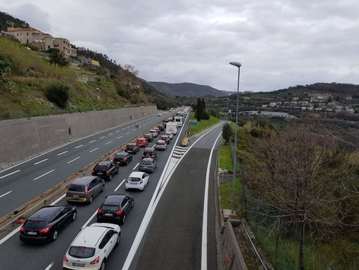 Autostrade: traffico rallentato per lavori sulla A12 Genova-Livorno tra Sestri Levante e Lavagna in direzione Genova