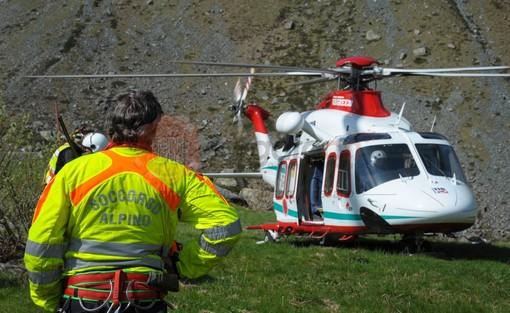 Escursionista genovese soccorsa con eliambulanza sul Monviso