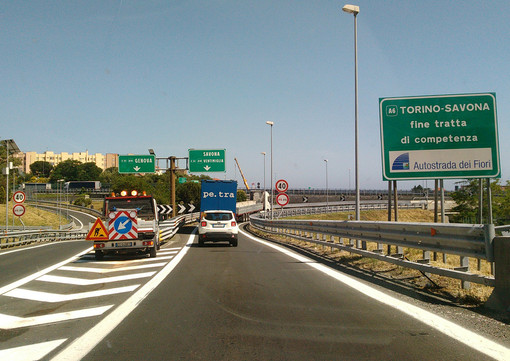 A7 Serravalle-Genova: chiuso nella notte il tratto tra l'allacciamento con la A12 Genova-Sestri Levante e Genova Ovest