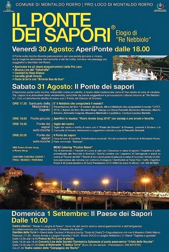 """A Montaldo Roero torna la magia de """"Il Ponte dei sapori"""", uno dei più importanti avvenimenti enogastronomico del Roero"""