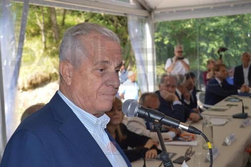 Claudio Scajola, durante l'intervento alla presentazione del progetto sulla 'Armo-Cantarana'
