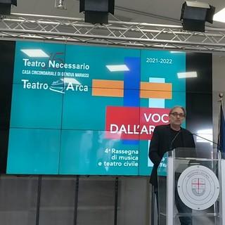 """Baldacci: """"No allo streaming, il teatro è dal vivo"""", dopo due anni riapre il sipario del Teatro dell'Arca"""