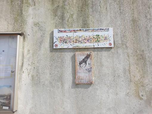 Campasso: rubate le ceramiche artistiche donate al quartiere (FOTO)
