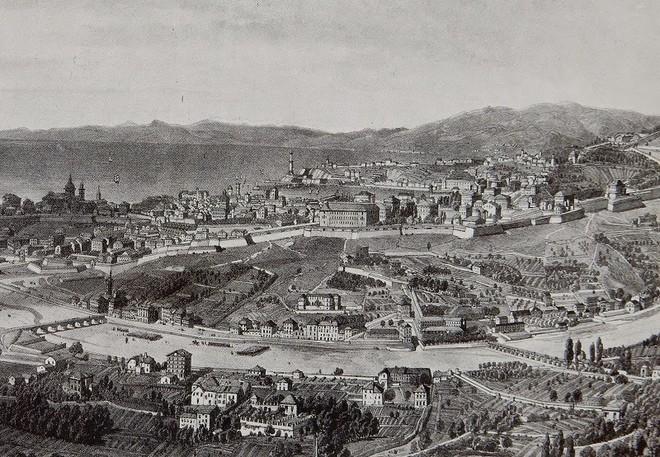 "F.Schmid-E.Ciceri  1850 ca - ed.Lemercier Paris - da:  ""Paesaggio e Immagine di Genova"" di Ennio Poleggi edit.  Sagep"