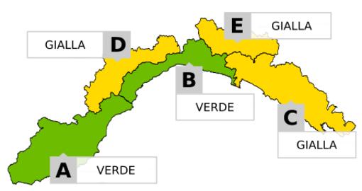 Meteo: allerta gialla per pioggia e neve in alcune zone