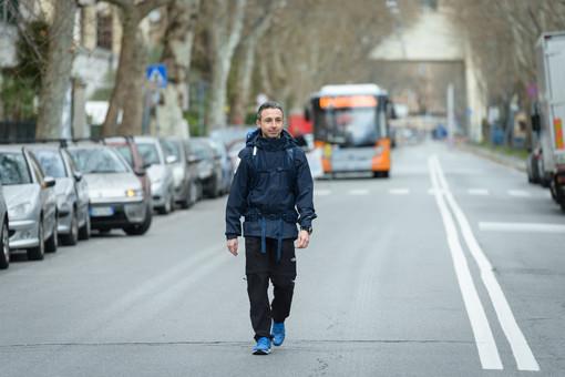 Si conclude a Genova il tour del Forrest Gump della sclerosi multipla: Marco Togni