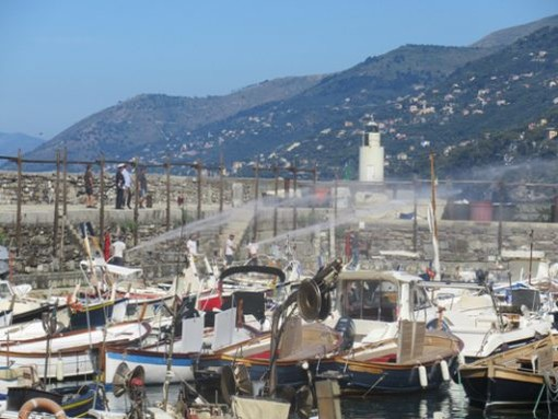 Esercitazione antincendio conclusa con successo nel porto di Camogli