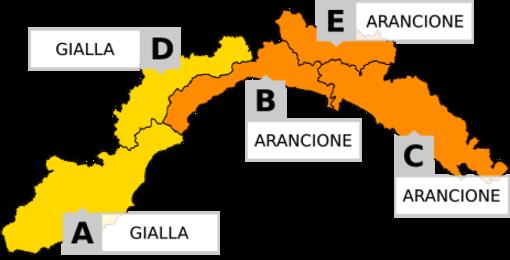 Meteo: è scattata l'allerta arancione sulla Liguria di centro-est