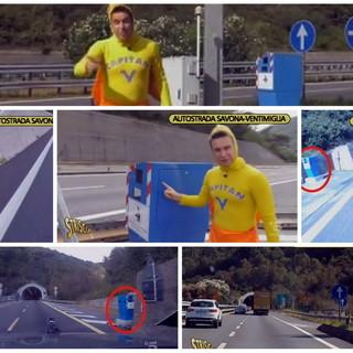 'Striscia la Notizia' tra gli autovelox della A10: secondo il Tg satirico sono 'invisibili' per gli automobilisti (VIDEO)