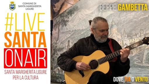 Santa Margherita Ligure: lunedì 5 aprile alle 21 il debutto di #livesanta on air con la chitarra di Beppe Gambetta