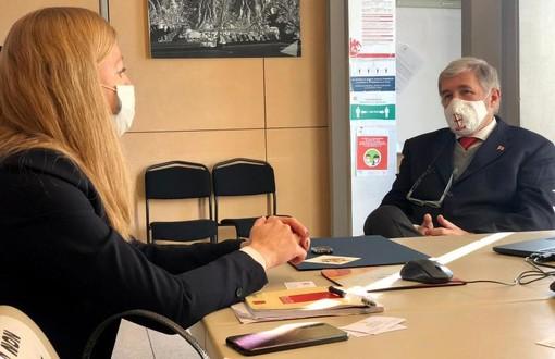 Il sindaco Bucci incontra la console generale della Federazione russa Maria Vedrinskaya