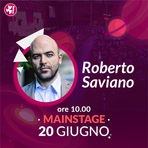 Roberto Saviano ospite al Web Marketing Festival: il 20 giugno sul Mainstage un talk su Fake News e integrazione