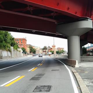 Cornigliano: polemica per il ripristino della corsia riservata ai bus in via Siffredi