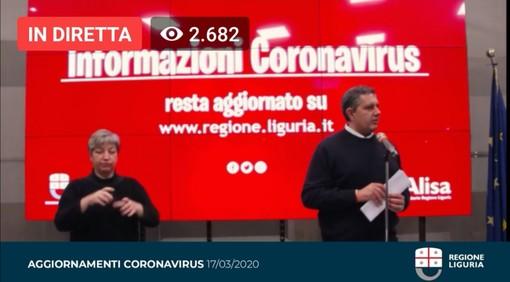 "Coronavirus, Toti: ""Epidemia cresce meno, previsto incremento tamponi"""