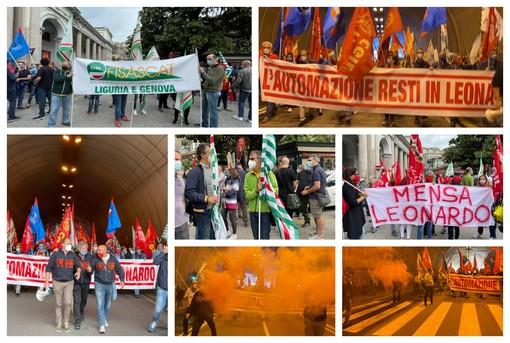 Leonardo Genova, scattato il presidio proclamato da Fim Fiom Uilm a sostegno della vertenza relativa alla B.U. Automazione (FOTO e VIDEO)