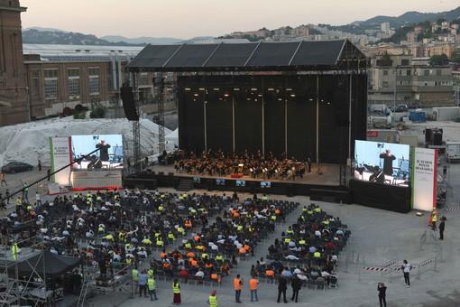 Ponte Genova San Giorgio: successo per il concerto dell'accademia di Santa Cecilia