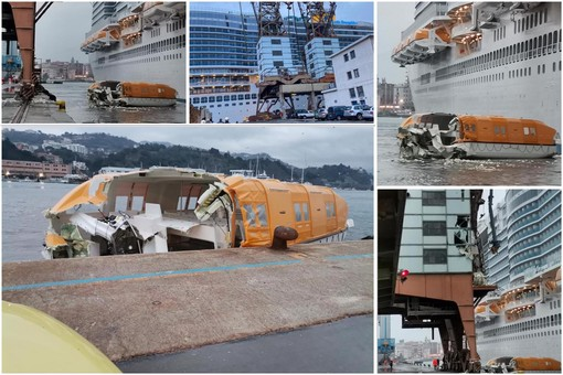 Savona, manovra sfortunata per Costa Smeralda: danni a gru e strutture fisse (FOTO e VIDEO)