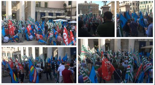 Prosegue a livello regionale la mobilitazione di Cgil, Cisl e Uil in tutta Italia: buon riscontro a Genova in Largo Pertini (VIDEO)