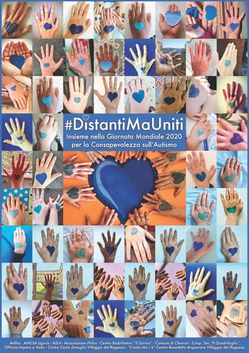 """Chiavari: """"Distanti ma uniti per l'autismo"""", l'iniziativa per la Giornata Mondiale per la Consapevolezza sull'Autismo"""