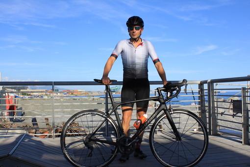 Da Genova al Monte Rosa: record di Davide Talarico in skybike