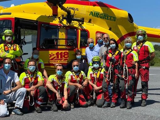 Da metà luglio decolla il nuovo servizio di elisoccorso del 118 della Liguria [FOTO]