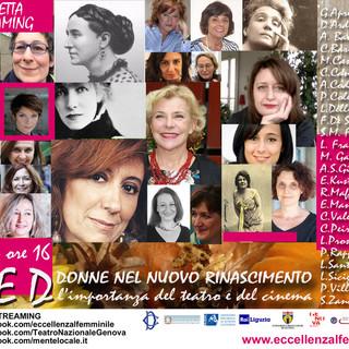 Festival dell'Eccellenza al Femminile e Teatro Nazionale insieme per raccontare l'esperienza di 23 autorevoli donne del mondo dello spettacolo