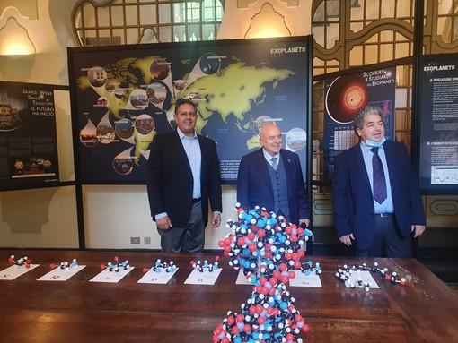 Il presidente Toti e l'assessore Cavo all'inaugurazione del Festival dello Spazio di Busalla