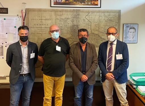 Giornata Mondiale Ortottica, il consigliere di Regione Liguria Brunello Brunetto riceve delegazione deli Ordini TSRM e PSTRP
