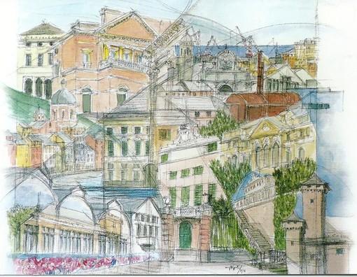I tesori di Genova negli splendidi disegni di Maria Giovanna Figoli