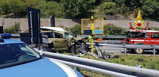 Incidente mortale sull'Autostrada A10 tra Finale Ligure e Orco Feglino (FOTO)