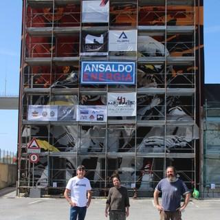 Campi, quasi pronto il murales 'VVF' realizzato da Drina A12 e Giuliogol per omaggiare i Vigili del Fuoco