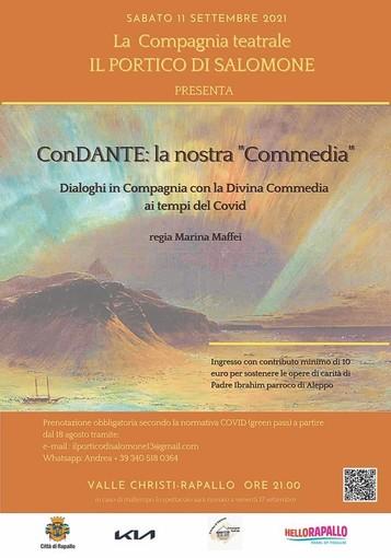 """Rapallo: in scena a Valle Christi """"ConDANTE - la nostra commedia"""""""