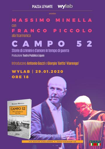 Chiavari: presentazione del libro 'Campo 52' del giornalista Minella
