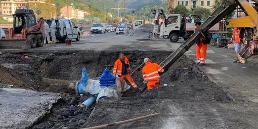 Piazzale Parenzo: oggi l'asfaltatura
