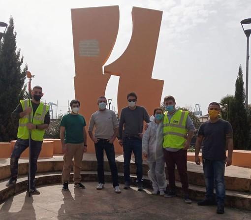 Pra', ritinteggiato il Monumento ai Caduti di piazza Bignami