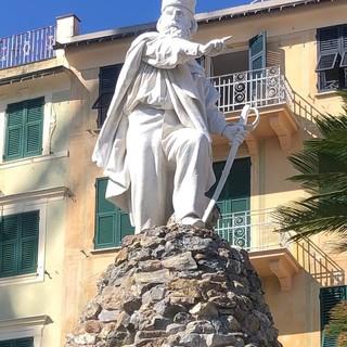Santa Margherita Ligure: concluso sul lungomare di Ghiaia l'intervento di restauro del monumento di Garibaldi