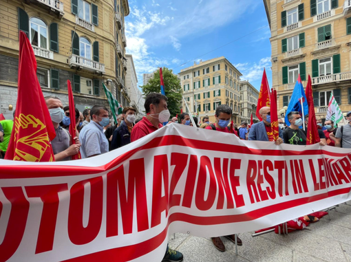 """Leonardo, Bruno Manganaro (Fiom Liguria): """"Incontrato il Prefetto di Genova, richiesto incontro col governo"""" (VIDEO)"""