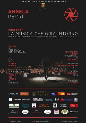 'La musica che gira intorno' la mostra fotografica di Angela Perri al Casinò di Sanremo