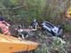 Montoggio: auto precipita in una scarpata, illesa la donna al volante