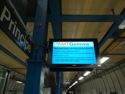 """Genova e la metro """"più corta del mondo"""", ma con treni troppo lunghi"""