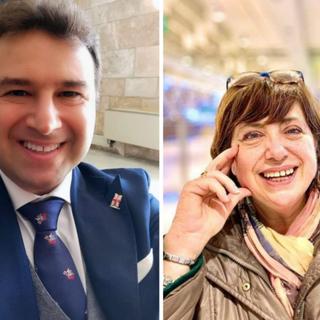 Mario Mascia (Forza Italia) e Lorella Fontana (Lega)