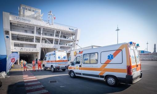 A bordo della nave-ospedale GNV Splendid i primi due pazienti (FOTO e VIDEO)