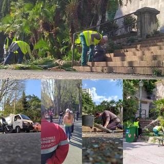Nuova fontana, pulizia dei ninfei, rifacimento del campetto di calcio: per Villa Scassi a Sampierdarena il futuro è verde (FOTO)