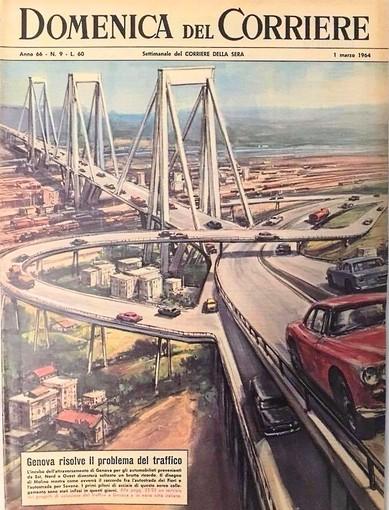 Il ponte sulla copertina della Domenica del Corriere nel 1964