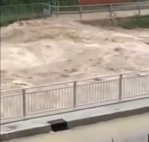 Maltempo a Genova: escono dagli argini rio Verde e rio Vaccarezza (VIDEO)