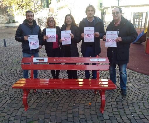 San Martino, inaugurata la Panchina Rossa contro la Violenza di Genere