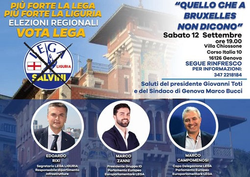 Agenda elettorale della Lega Liguria del 12 settembre