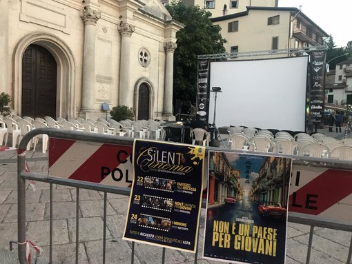 'Silent cinema' sul depuratore di Sturla