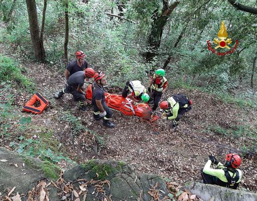 Rapallo: escursionista cade nella scarpata, soccorso con elicottero